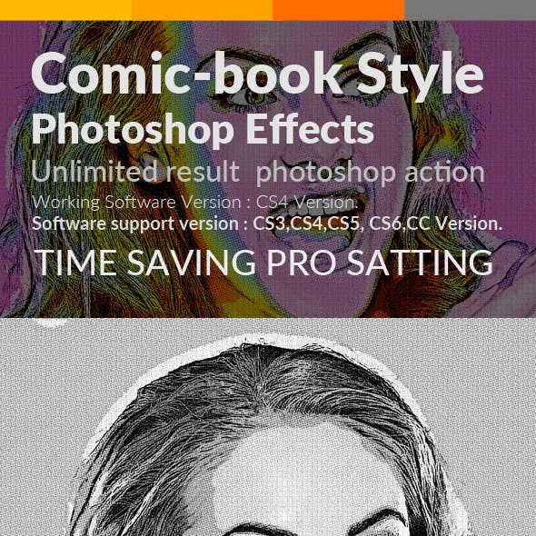 Comic-Book Style Photoshop Effects