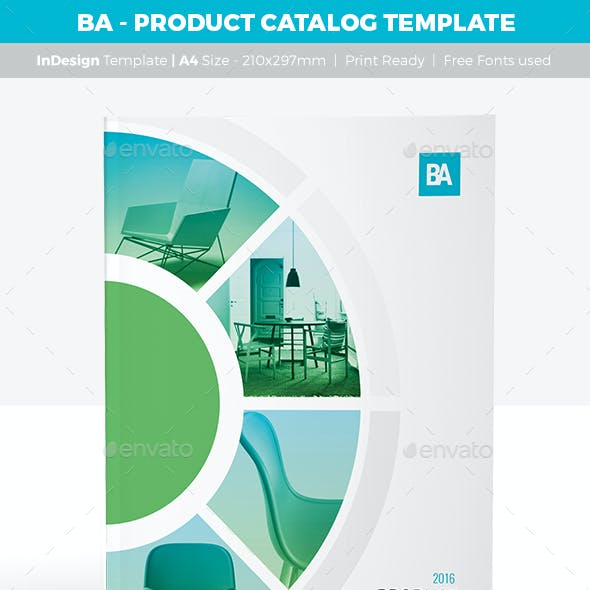 BA - Product Catalog Template