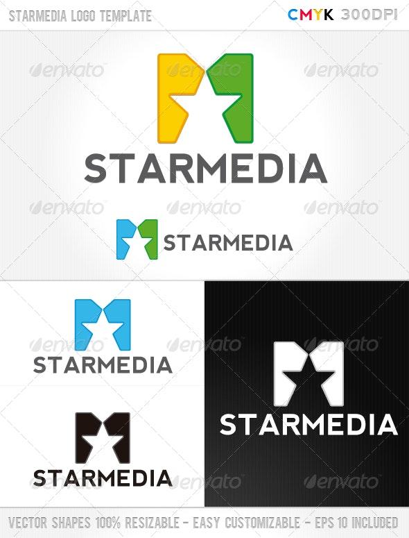 Star Media Logo Template - Abstract Logo Templates