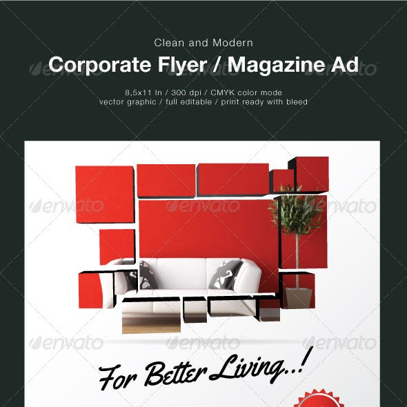 Clean Corporate Flyer / Magazine Ad