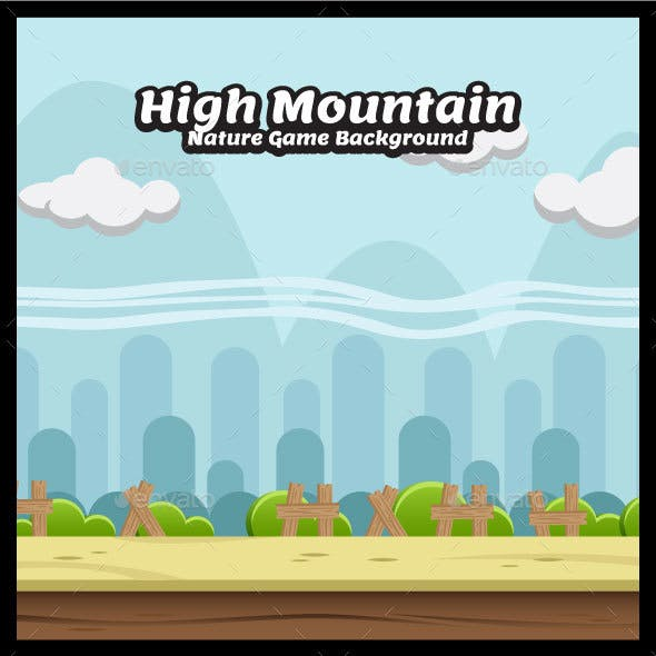 High Mountain Nature Game Background