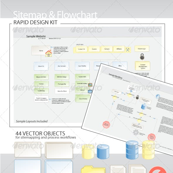 Sitemap & Flowchart Rapid Design Kit