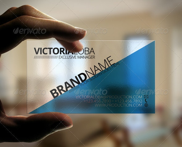 Impact Transparent Business Card - Corporate Business Cards
