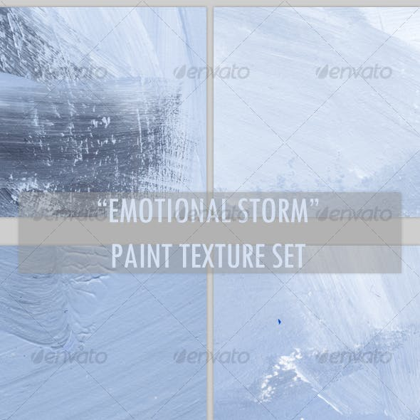 """Emotional Storm"" paint texture set"