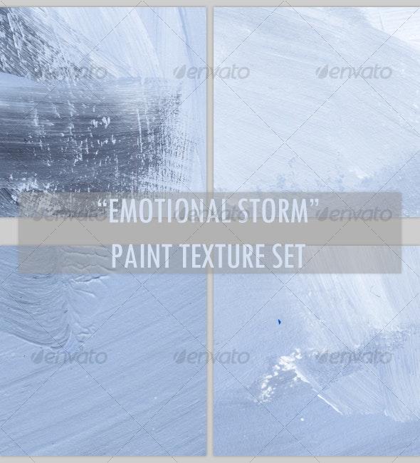 """Emotional Storm"" paint texture set - Art Textures"