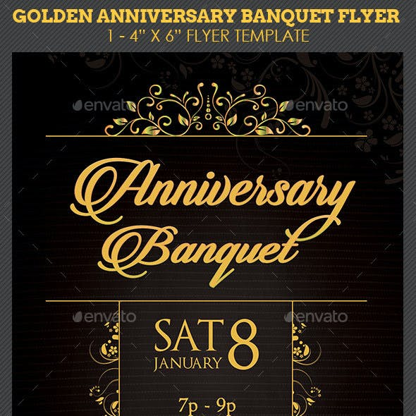 Golden Anniversary Banquet Flyer Template