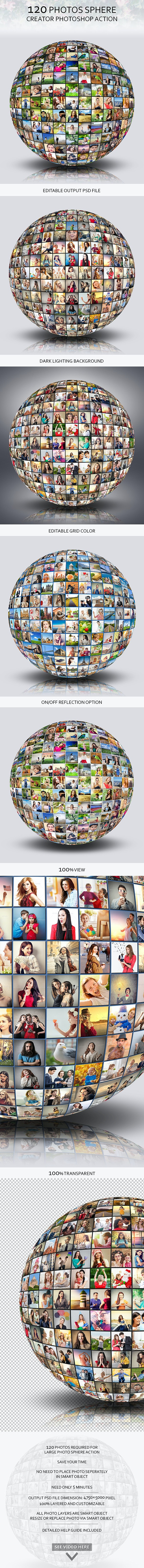 120 Photos Sphere Creator by towhid123griver | GraphicRiver