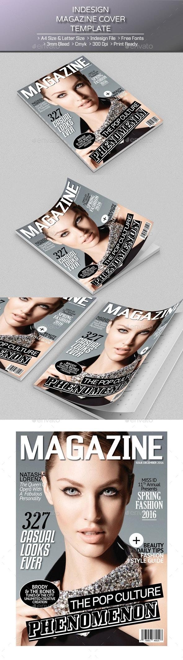 Magazine Cover 04 - Magazines Print Templates