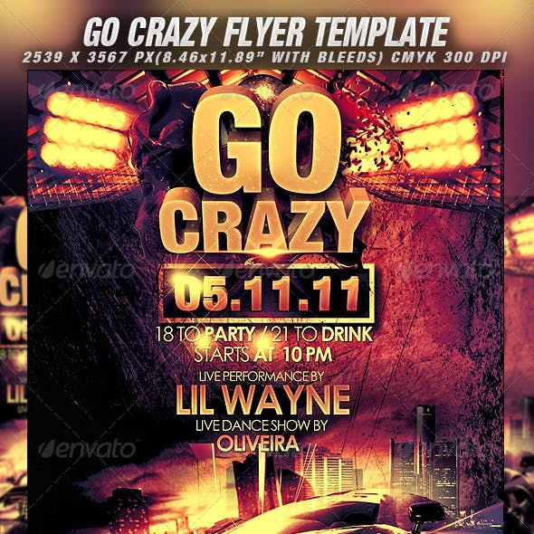 Go Crazy Flyer Template