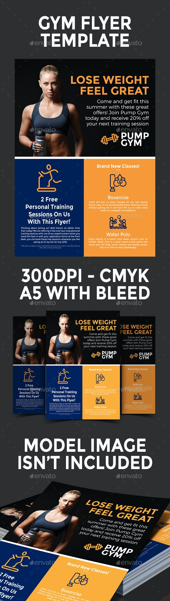 Gym Flyer Template - Sports Events