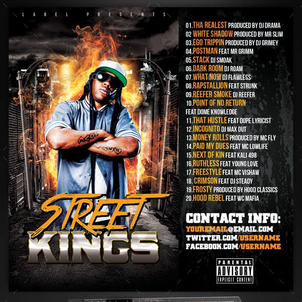 Mixtape / CD Cover Template - Street Kings