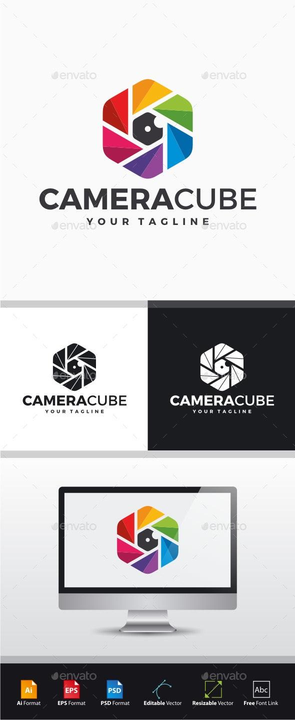 Camera Cube Logo - Symbols Logo Templates