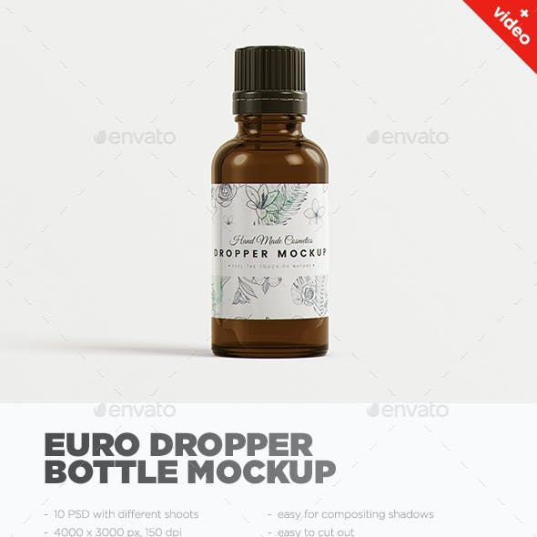 Euro Dropper Bottle MockUp