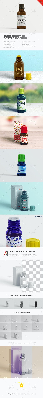Euro Dropper Bottle MockUp - Beauty Packaging