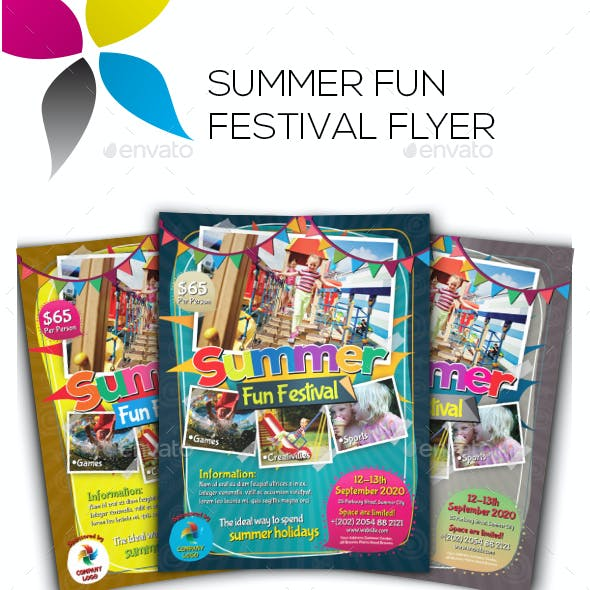 Summer Fun Festival Flyers