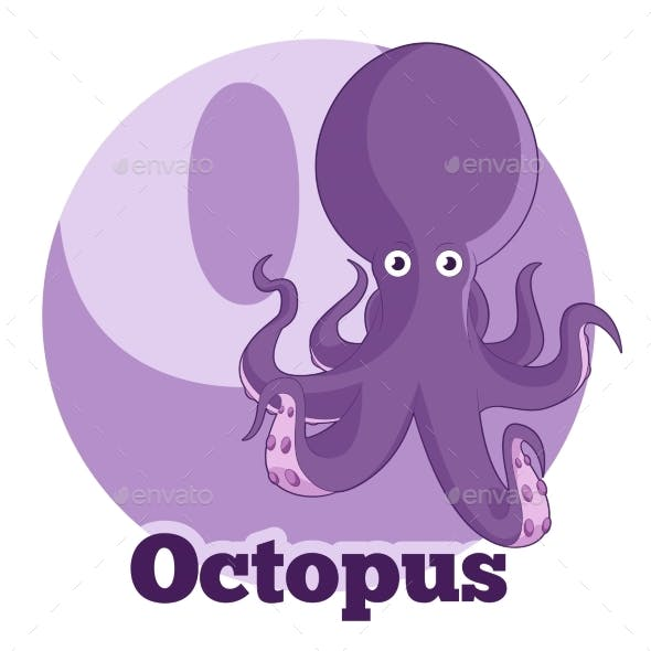 ABC Cartoon Octopus