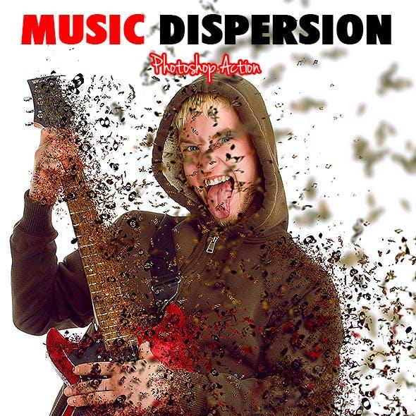 Music Dispersion Photoshop Action