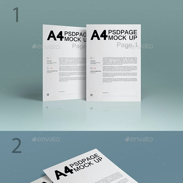 A4 Page MuckUP Bundle 01