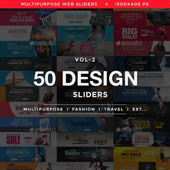 Multipurpose Sliders - 50 Designs