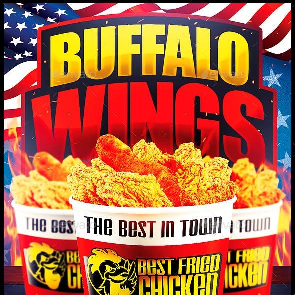 Wings Fast Food Flyer