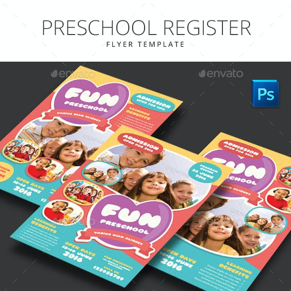 Preschool Register Flyer