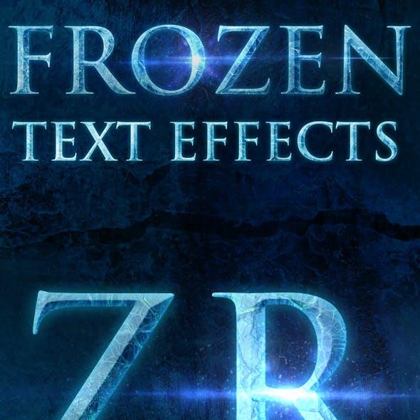 12 Frozen Text Effects