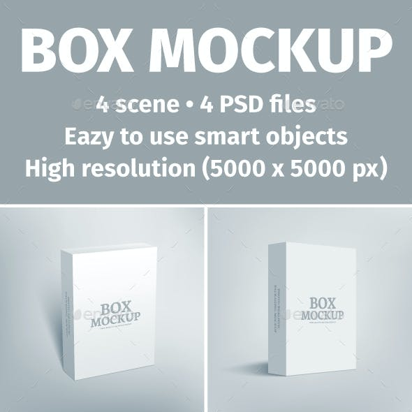 Software Packaging Box Mockup