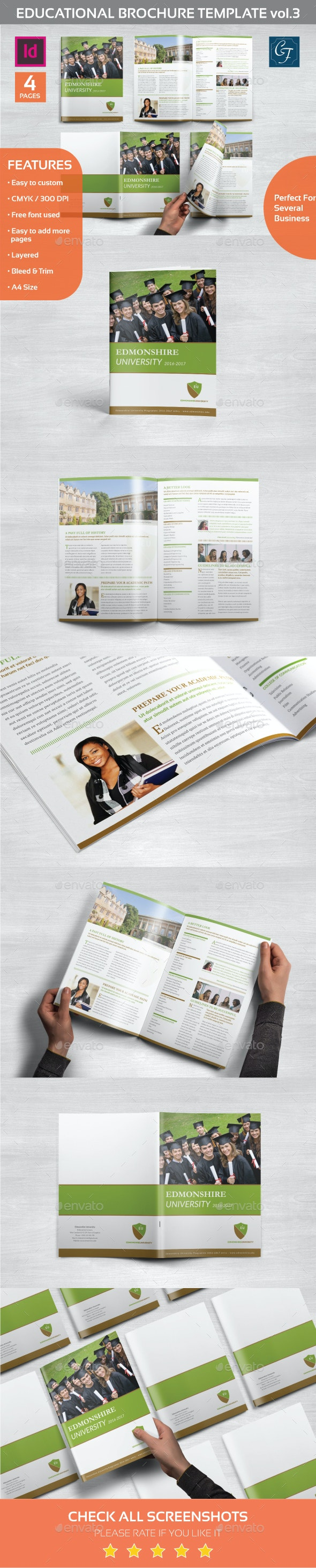 Educational Brochure Template vol.3 - Informational Brochures