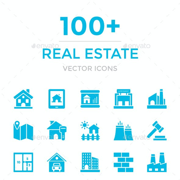 100+ Real Estate Vector Icons