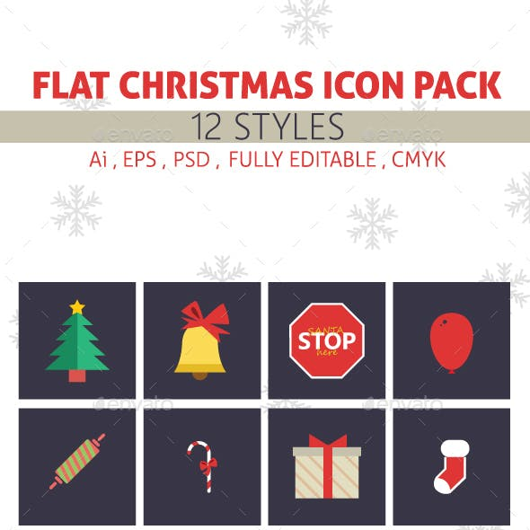 Flat Christmas Icon Pack