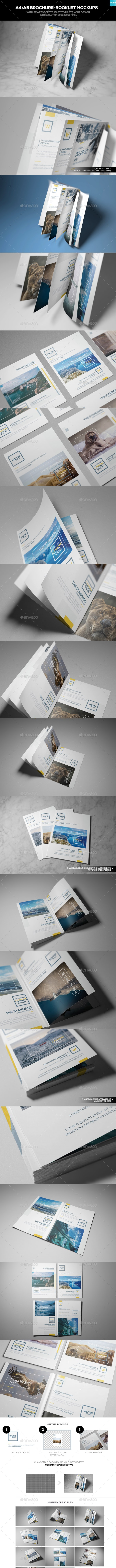A4/A5 Brochure-Booklet Mockups - Brochures Print