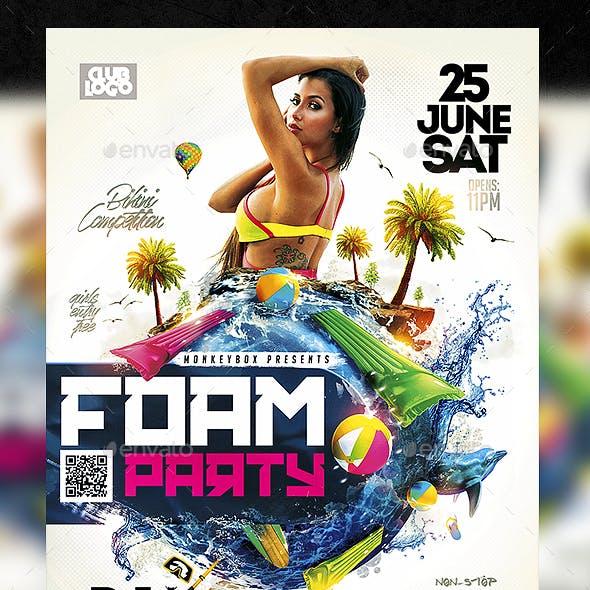 Foam Bash Flyer Template