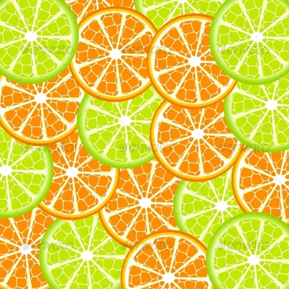 lime and orange background - Backgrounds Decorative