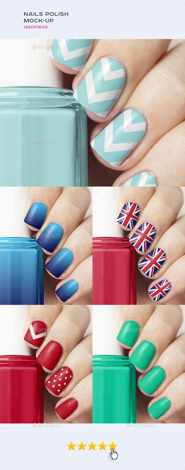 Manicure • Nails Polish Mock-up - Beauty Packaging