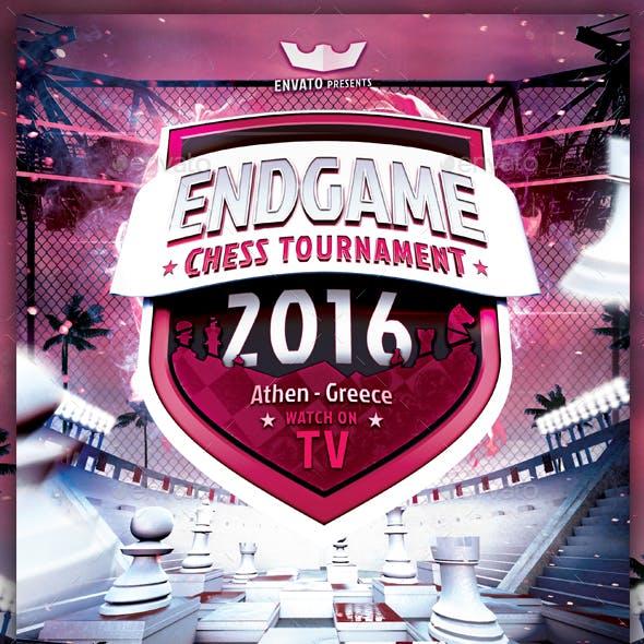 Endgame Chess Tournament - Flyer Template