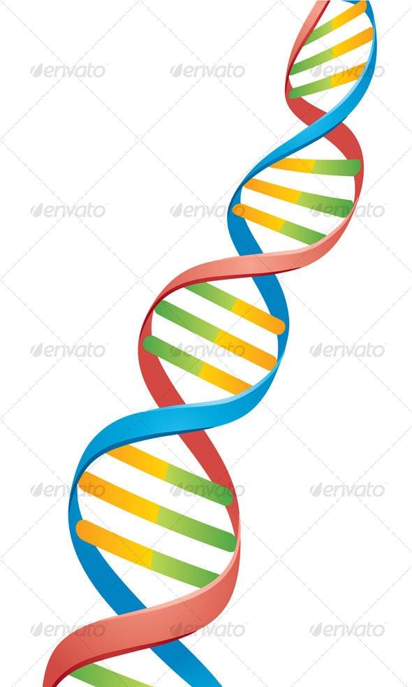 Double Helix DNA Strand - Health/Medicine Conceptual