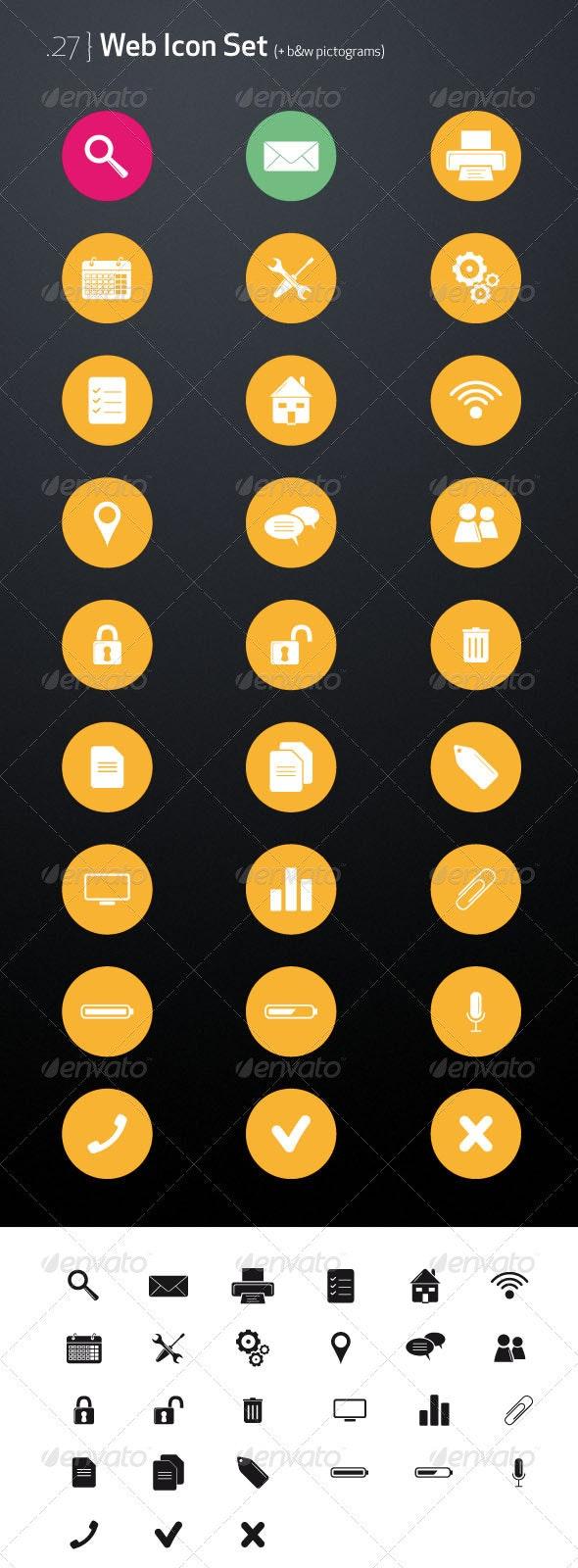 Web Icon Set & pictograms - Web Icons