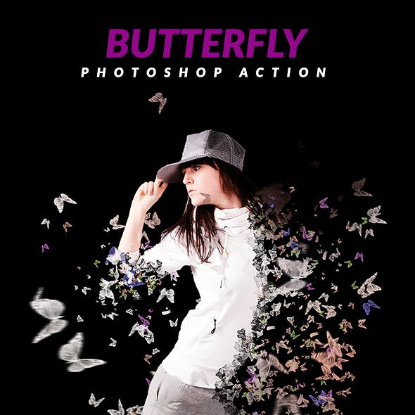 Butterfly Photoshop Action