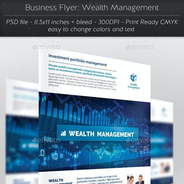 Business Flyer: Wealth Management
