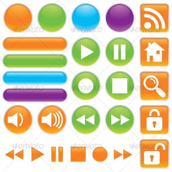 Audio And Video Buttons - Decorative Symbols Decorative