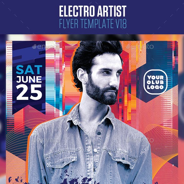 Electro House Artist Flyer v18