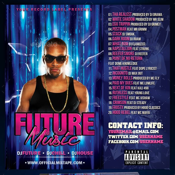 Mixtape / CD Cover Template - Future Music