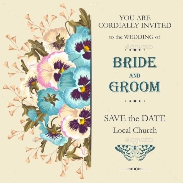Vintage Wedding Invitation - Weddings Seasons/Holidays