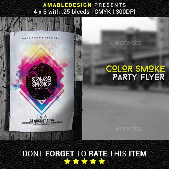 Color Smoke Flyer/Poster