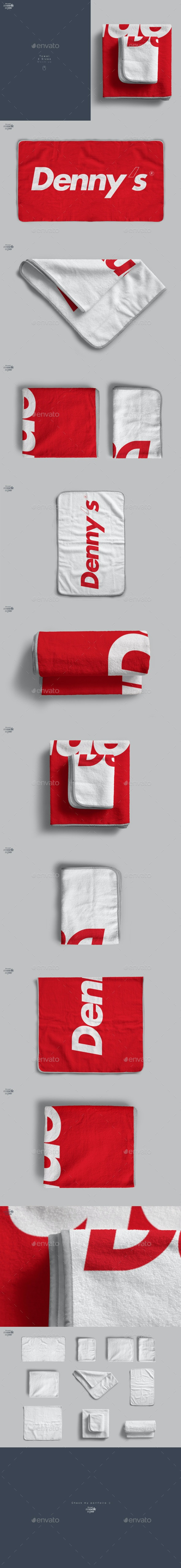 Towel 2 Sizes Mockup - Miscellaneous Product Mock-Ups