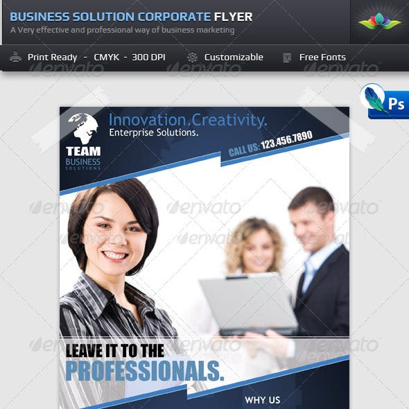 Business Solution Corporate Flyer Template