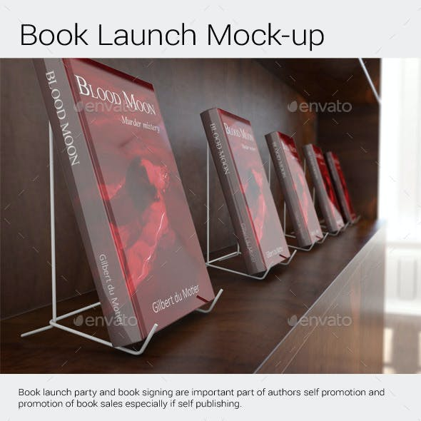 Book Launch Signing Mock-Up