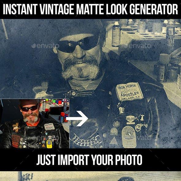 Instant Vintage Matte Look Generator