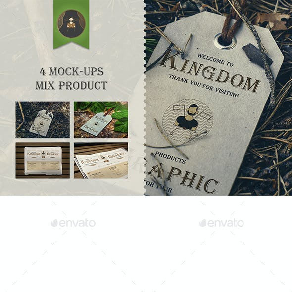 Mock-Up Mix Product Vol.1 (Newspapers & Labels)