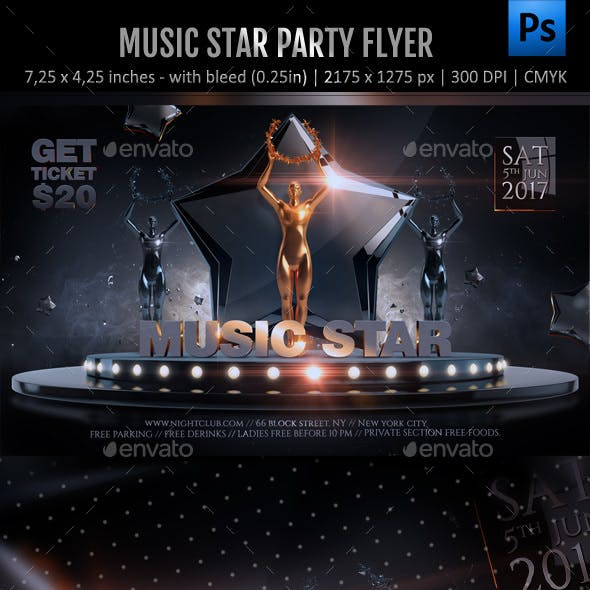 Music Stars Awards Flyer